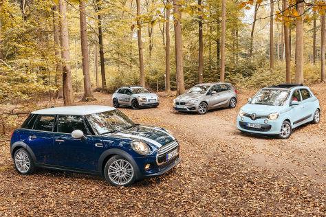 Vier neue Autotypen