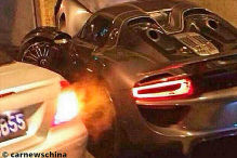 Porsche 918 gecrasht