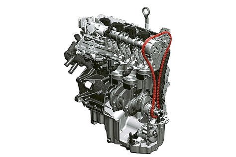 Steuerkette am VW 1,4-Liter-TDI-Motor