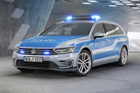 VW e-Golf als Polizeiauto auf Helgoland