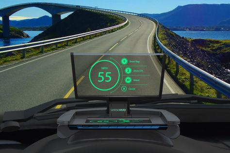 SenseHUD Head-up-Display von SenseDriver Technologies