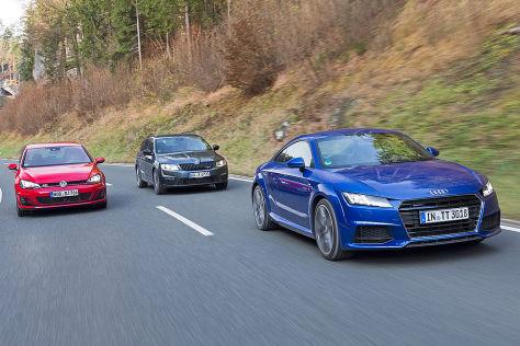 Vergleich: Audi TT/Skoda Octavia Combi/VW Golf GTI