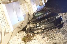 BMW-Fahrer hat guten Schutzengel