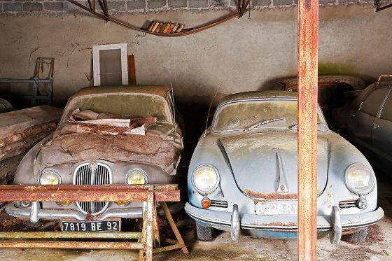 Sensations-Scheunenfund: Jaguar S-Type und Porsche 356 SC