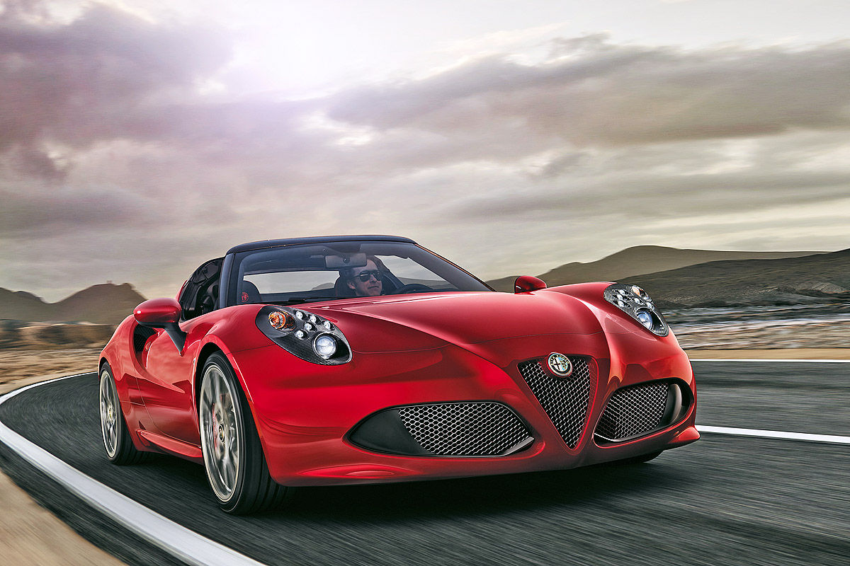alfa romeo 4c spider vorstellung und preis bilder. Black Bedroom Furniture Sets. Home Design Ideas