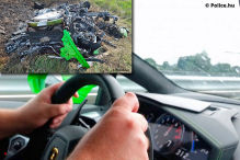 Horror-Crash mit �ber 300 km/h