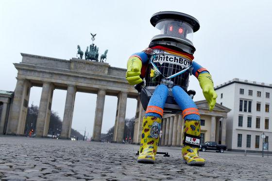 Hitchbot am Brandenburger Tor