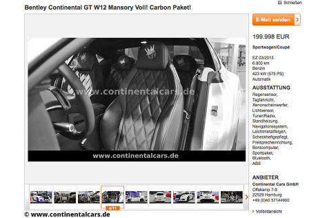 Kevin-Prince Boateng verkauft Bentley Continental GT W12