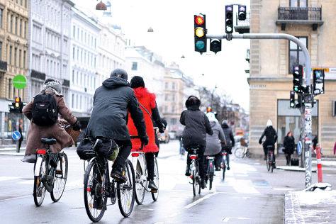 Kluge Radfahrer-Ampeln für Kopenhagen