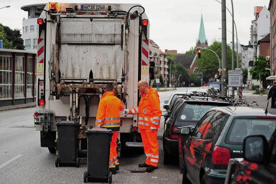 Müllwagen in Hamburg