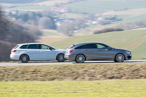 Mercedes CLA 45 AMG/Seat Leon ST Cupra: Vergleich