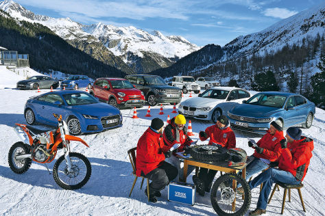 Autos im Wintertest