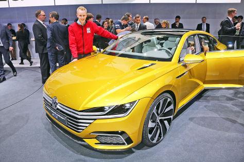 VW Sport Coupé Concept GTE (Genf 2015): Sitzprobe