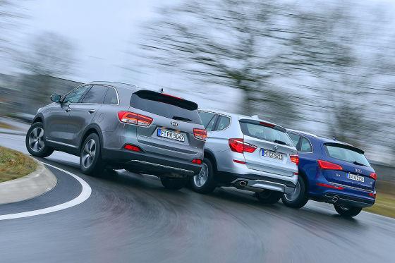 Audi Q3 BMW X3 Kia Sorento