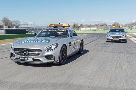 Formel 1 2015: Mercedes AMG GT S Safety Car und C 63 S Medical Car