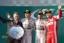 Hamilton vor Rosberg und Vettel