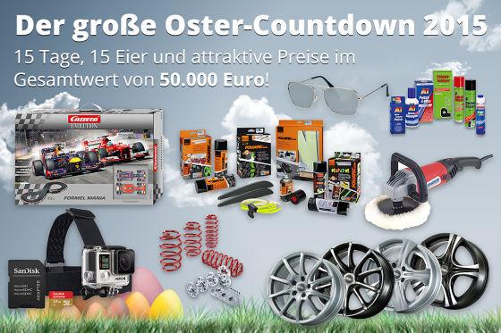 Oster-Countdown 2015: Preise im Gesamtwert von über 50.00 Euro