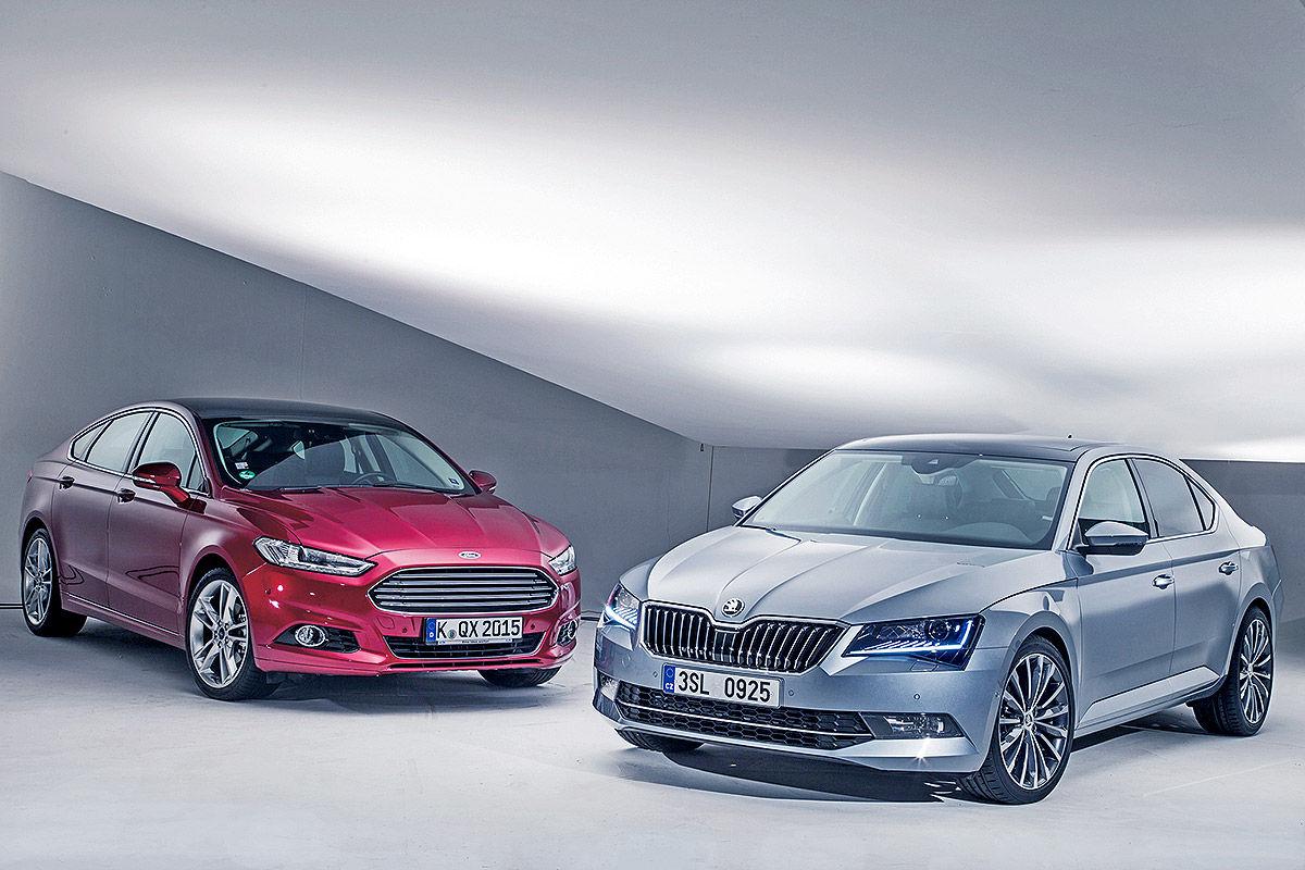 Skoda Superb gegen Ford Mondeo: Vergleich - Bilder - autobild.de