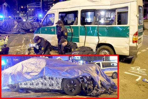 BMW 7er Erlkönig: Unfall in Stuttgart