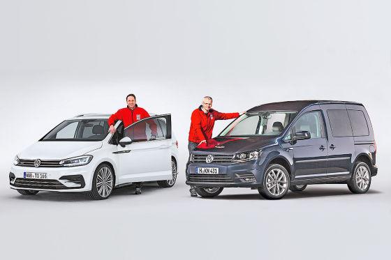 Neuer VW Touran gegen gelifteten VW Caddy: Erster ...