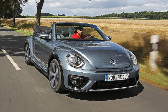 vw beetle cabrio facelift denim 2016 test fahrbericht. Black Bedroom Furniture Sets. Home Design Ideas