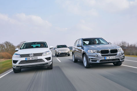 BMW X5 Jeep Grand Cherokee VW Touareg