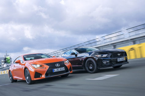 Ford Mustang GT Lexus RC F