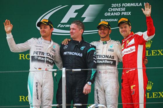 Hamilton, Rosberg & Vettel