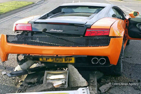 Lamborghini Gallardo: Crash