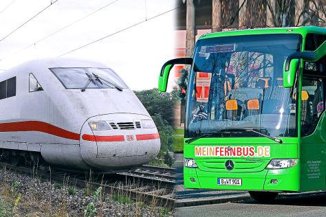 Bahn: Reaktion auf Fernbus-Konkurrenz