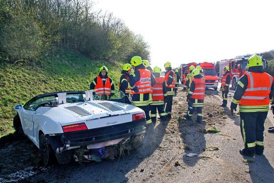 Lamborghini Gallardo Spyder Unfall