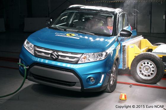 Euro NCAP Crashtest Suzuki Vitara (April 2015)