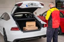 Parkender Audi als Packstation