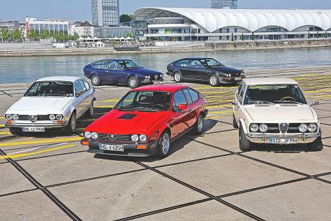 Generationenvergleich: Alfa Romeo Alfetta zwischen 1975 und 1982
