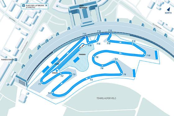 Formel E Rundkurs Berlin