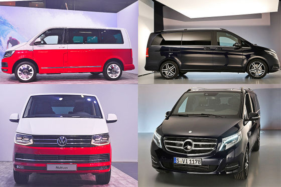 vw t6 gegen mercedes v klasse wer ist hier der edel bus. Black Bedroom Furniture Sets. Home Design Ideas