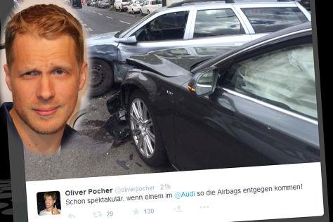 Oliver Pocher crasht seinen Audi A8