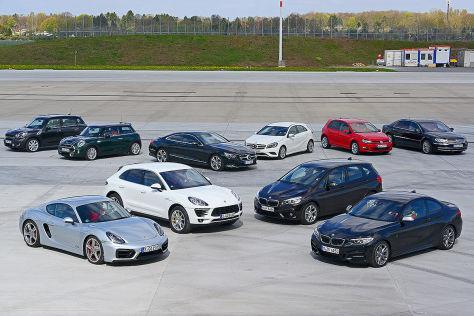 Fünf Auto-Paare im Vergleich