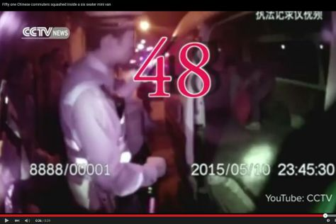 51 Chinesen im Minivan: Video