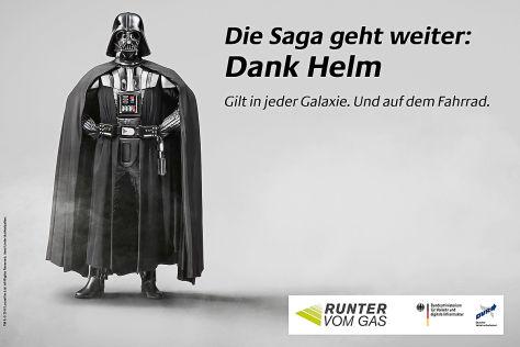 """""""Darth Vader""""-Kampagne für Fahrradhelme"""