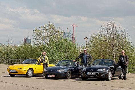 Mazda MX-5 1.6 Baujahr 1996, Mazda MX-5 1.6 Baujahr 1998, Mazda MX-5 2.0 Baujahr 2010