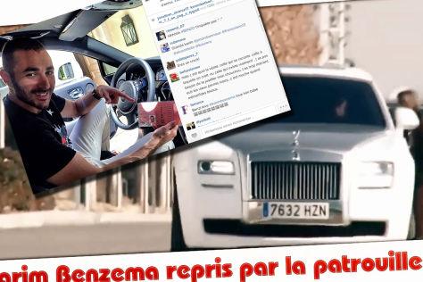 Karim Benzema angeblich ohne Führerschein gefahren