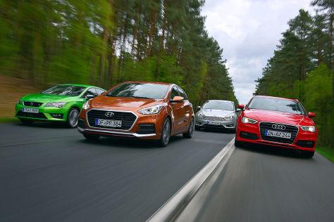 Audi A3 Ford Focus Hyundai i30 Seat Leon