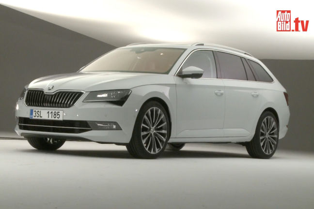 video skoda superb combi 2015. Black Bedroom Furniture Sets. Home Design Ideas