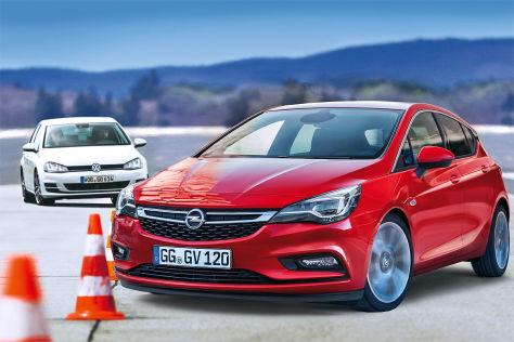 Opel Astra (2015) gegen Golf: Vorschau