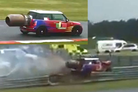 Mini mit Jetantrieb: Crash in Snetterton