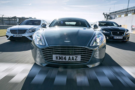 Aston Martin Rapide/Jaguar XJR/Mercedes S 63 AMG: Vergleich