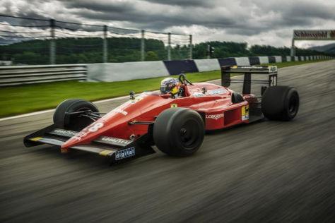 Sebastian Vettel in Gerhard Bergers Ferrari von 1988: ein historischer Tag