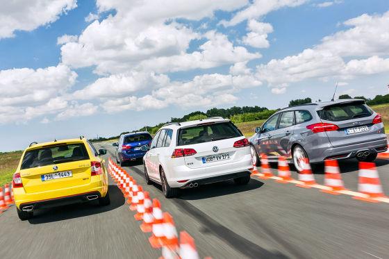 Vier starke Diesel-Kombis im Test