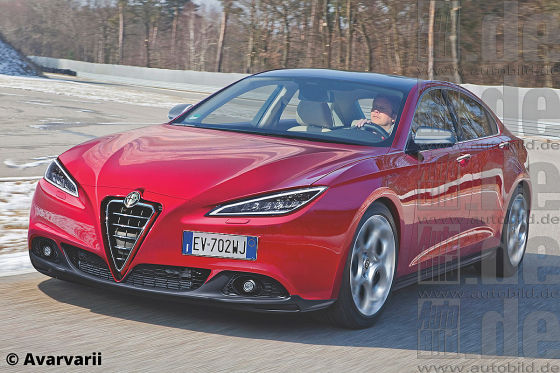 Alfa Romeo Giulia Illustration